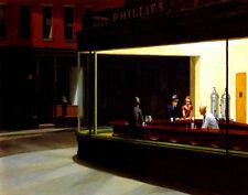 Hopper Edward Nighthawks Canvas 16 x 20   #4705