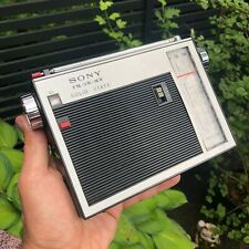 WOW! Vintage RARE GREAT SONY TFM-110WB PORTABLE TRANSISTOR RADIO JAPAN. WORKS!