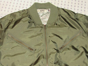 2006 COCKPIT CPT LIGHTWEIGHT NYLON FLYER'S JACKET! WWII MAP ON LINING! ZIP-UP XL