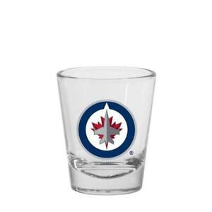 Winnipeg Jets 1.5oz Round Shot Glass