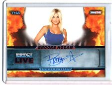 TNA Brooke Hogan L5 2013 Impact Wrestling LIVE BLUE Autograph Card SN 12 of 25