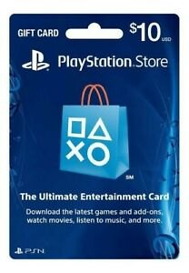 PSN 10$ Gift Card Fast Digital Delivery