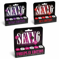 6X SEX DICE Adult Couple Games Fun Sexy Foreplay Party Weekend Play Time Sex Aid