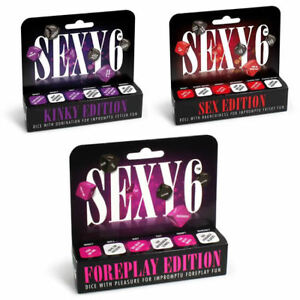 Sexy 6 Dice Game Couples Adult Fun Foreplay Sex Kinky Sex Aid Saucy Dominate UK