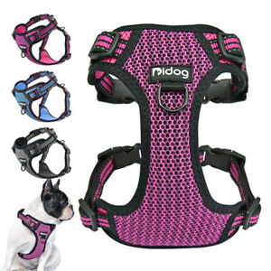 Reflective Breathable No Pull Dog Harness Soft Padded Large Dog Walking Vest