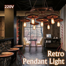 Gear Retro Metal Pendant Light Fixture Ceiling Industrial Chandelier