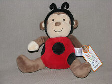 Carters JUST One You BABY Plush MONKEY Lady BUG Stuffed Animal TOY Lovey BROWN