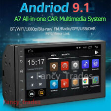 2DIN Android 9.1 Car Stereo GPS 7'' HD Touch Screen 2+16G Player Radio Headunit