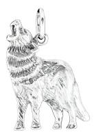 Wolf Anhänger 925er Silber Symbol Schmuck - NEU