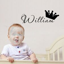 Personalized Name Prince Wall Sticker Kids Baby Room Vinyl Wall Decal Removable