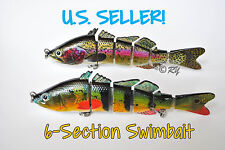 Multi Jointed 6-Section Fishing Swimbait Bass Lure - Perch