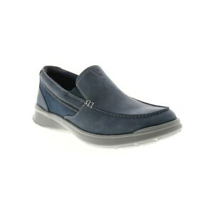 Clarks Men Slip On Moc Toe Loafers Cotrell Easy Size US 9.5M Navy Leather