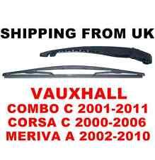 TERGICRISTALLO lunotto posteriore Arm & BLADE KIT SET Vauxhall Corsa C Mk2 Combo C MERIVA un MK1