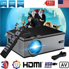 5000 Lumens Full HD 1080P LED LCD Projector Home Theater 3D PC USB HDMI Movies