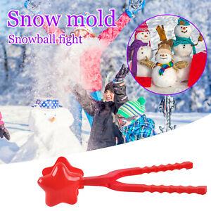 Star Snowball Maker Winter Plastic Snowball Maker Clip Kids Outdoor Mold Toys