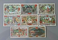 GROSS FLOTTBEK NOTGELD 10, 20, 25, 30, 50, 75 PFENNIG, 1, 2 MARK 1921 (12076)