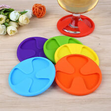 Goblet Silicone Coaster Cushion Paded Red Wine Glass Mats Temperature Resistance