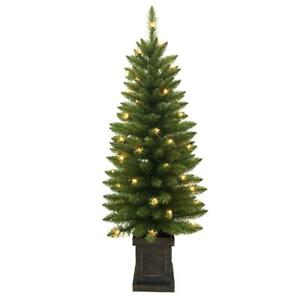 NEW!! Home Accents Holiday 4 ft. Pre-Lit Douglas Artificial Christmas Porch Tree