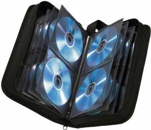 80 CD DVD Carry Case Discs Storage Holder Organiser Sleeve Wallet In Car BLACK