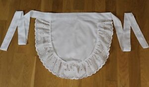 Traditional Maids Pinny Apron Embroidery Anglaise - Choose Size