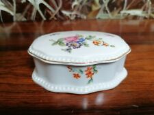 Rosenthal Bavaria, Noble Vintage Boîte avec Couvercle Bord Perle Et Décor Floral