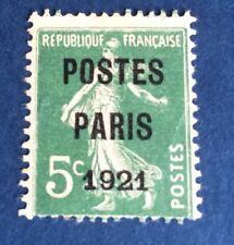 Preos Poste Paris 21 Oblitéré TB Cote 80€