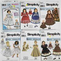 Vtg Lot Of 6 UNCUT Daisy Kingdom Girls Dresses w/matching Doll Patterns Sz 3-6