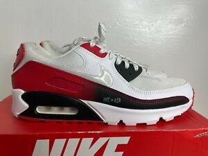 NIKE AIR MAX 90 White University Red CZ8124-100 Men's Size 10