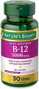 Vitamin B12 by Nature's Bounty, Dual Layer Dietary Supplement, Quick Release...