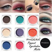 PHOERA 12 Colors Monochrome Glitter Matte Eyeshadow Eye Pigment Powder Cosmetic