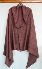 Vintage Sozni Needlework Hand Embroidered Wool Shawl Stole Wrap