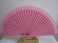 2 x Fächer Handfächer Holzfächer Taschenfächer aus Holz und Stoff Rosa