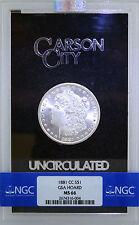 1881 CC $1 Morgan Silver Dollar NGC MS66 GSA Hoard
