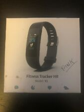 Fitness Tracker HR.  Android Or iPhone. Pink. Tracks Steps, Calories And Sleep