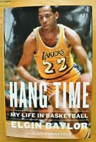NEW Elgin Baylor Los Angeles Lakers hand Signed Autographed Hang Time Book