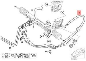 Genuine BMW E53 SUV Pressure Hose Assembly OEM 32416757922