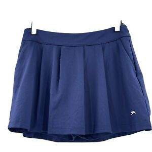 Slazenger Women's Pleated Navy Blue Skort Pockets Size Small