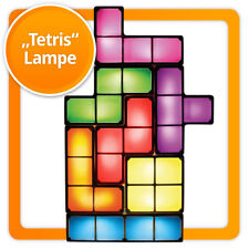 Tetris Lampe Stimmungslicht beleuchtete Tetrissteine Bausteine Retro Tetrislampe