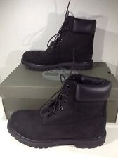 TIMBERLAND Womens 6in Premium Black Ankle Boots Shoes Size .5 ZJ-350