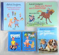 🦧  5x Astrid Lindgren - Pippi Langstrumpf - Jugendbuch Sammlung Bücherpaket