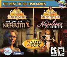 CURSE OF THE PHARAOH: NAPOLEON'S SECRET + NEFERTITI Hidden Object PC Game NEW