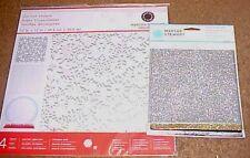 Martha Stewart Snowflake Winter 3 Die-Cut Sheets + 6 Glitter Transfer Sheets NEW