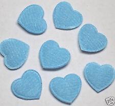 Cute Padded Felt Heart appliques x140 Blue-Scrapbooking