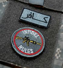 KANDAHAR WHACKER JSOC USMC FORCE RECON GHOST SNIPER SSI: INFIDEL RULES +كافر TAB