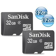 LOT of 2 32GB = 64GB 64G SANDISK CLASS 4 microSDHC 32G micro SD SDHC Memory Card