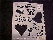 "Stencil Template Love Wedding Dove Heart From Plaid Simply Stencil 8"" X 10"""