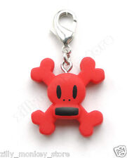 Paul Frank Red Skurvy Jacket Zipper Pull Phone Charm