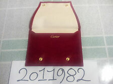 Cartier Watch Customer Service Red Suede Pouch for all model storage