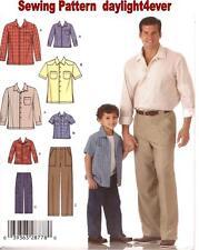 Boys Men Pants Shirt Button Down Sewing Pattern 4760 Simplicity New Size S-XL #v