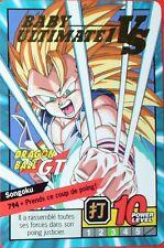 CARTE DRAGON BALL GT N° 794 SONGOKU POWER LEVEL 10 VERSION FRANCAISE
